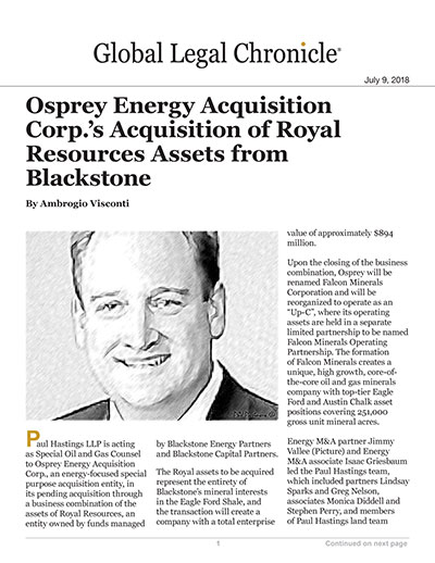 Osprey Energy Acquisition Corp.'s Acquisition fo Royal Resources Assets from Blackstone