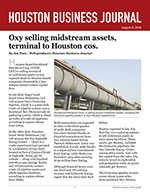 Oxy selling midstream assets, terminal to Houston cos.